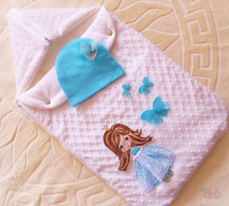 Конверт для новорожденной принцессы.
