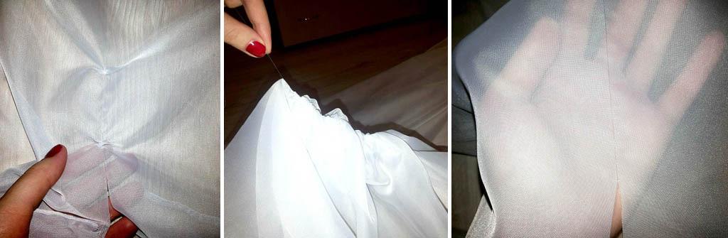 Как разрезать тюль по следу нити